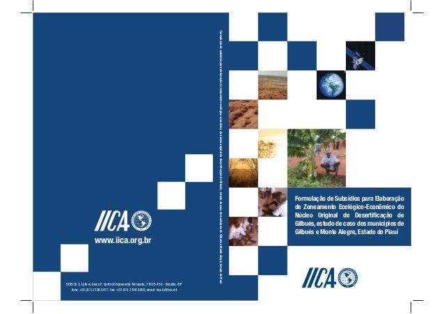 Formulação de Subsídios para Elaboraçãode Zoneamento Ecológico-Econômico doNúcleo Original de Desertificação deGilbués,estu...