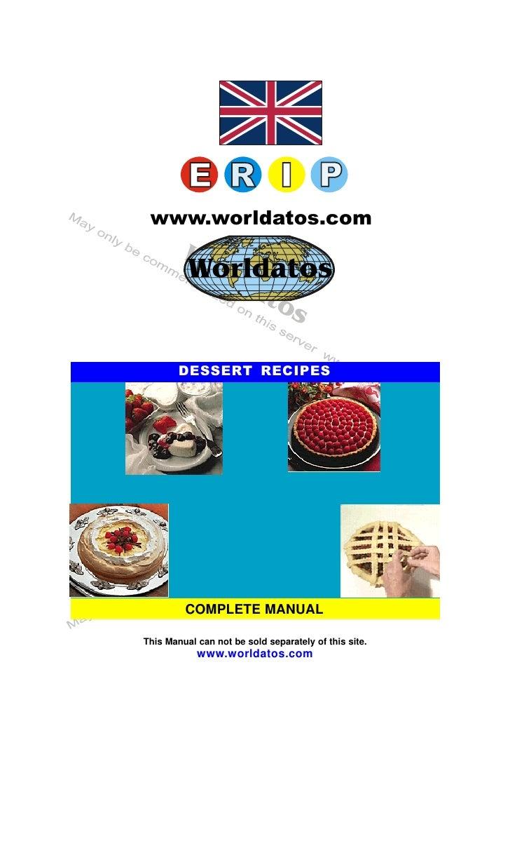 Livro De Receitas Cocina Dessert