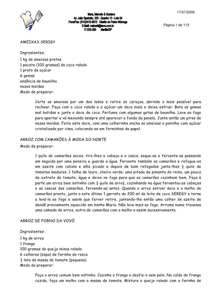 17/07/2009                                                                               Página 1 de 113    AMEIXAS SERIGY...