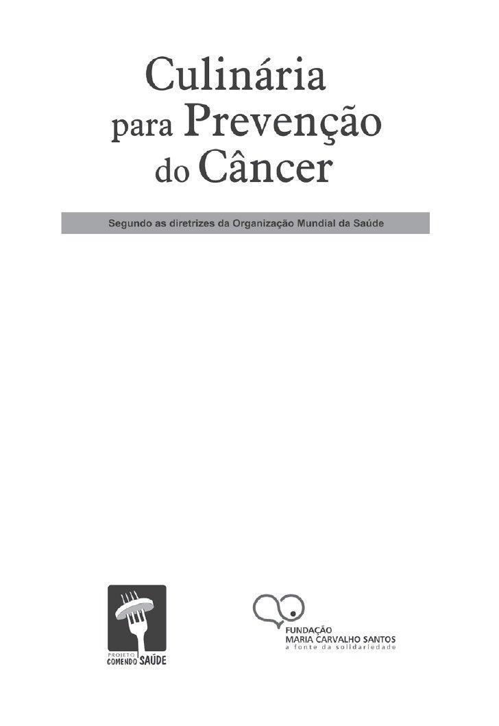 Livro De Receitas PrevençãO Do Cancer