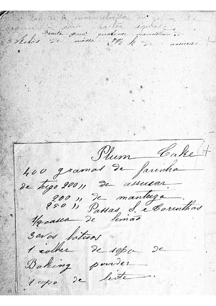 Livro de receitas século xix