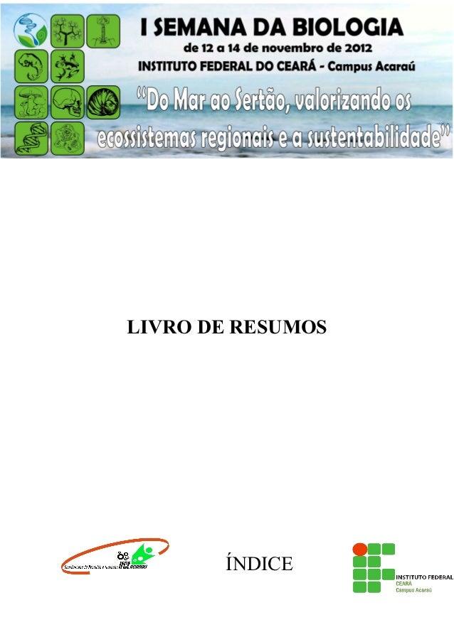 1LIVRO DE RESUMOS       ÍNDICE