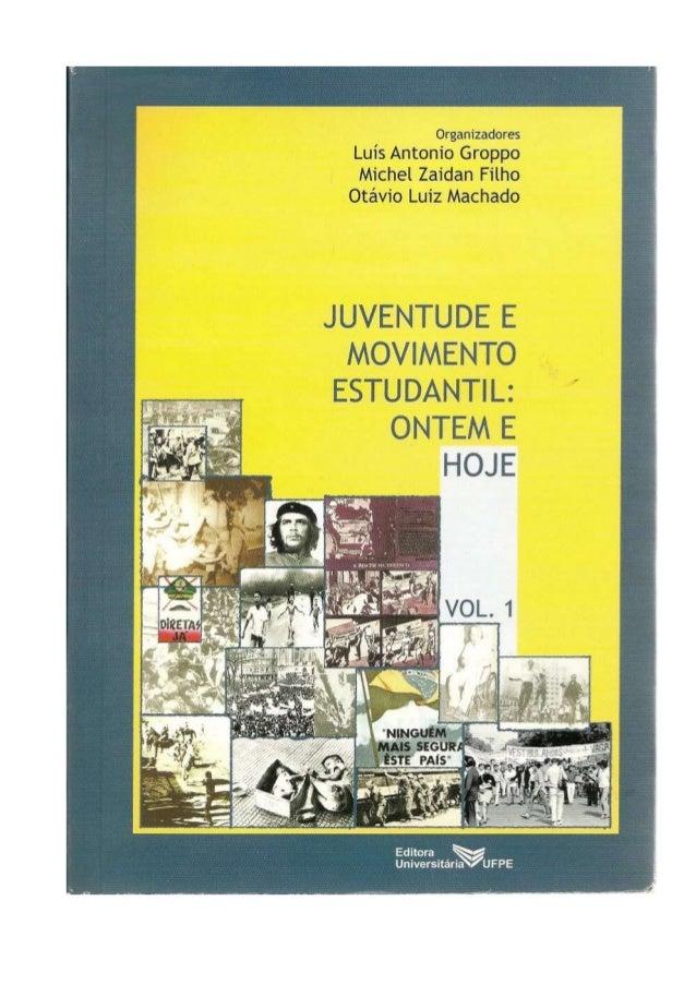 Livro juventude e movimento estudantil ontem e hoje pdf ok