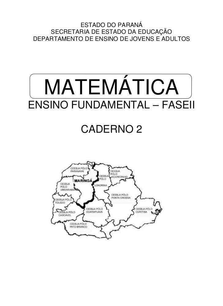 Livro  Matematica Ensino Fundamental   Fase Ii   Caderno Ii