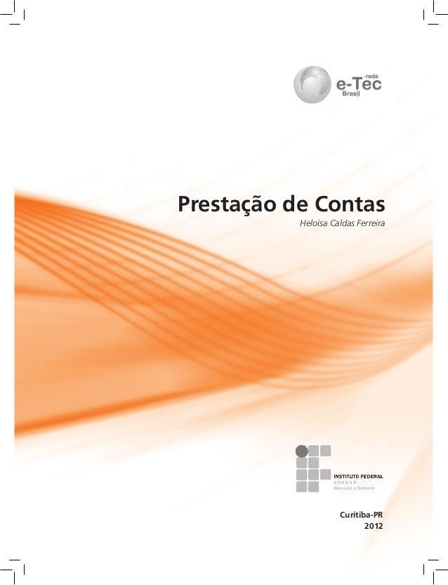 2012 Curitiba-PR Prestação de Contas Heloísa Caldas Ferreira