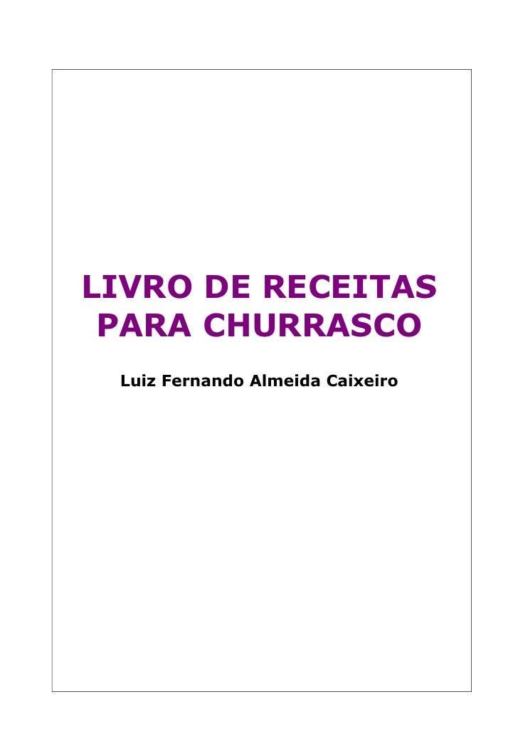 Livro Receitas De Churrasco