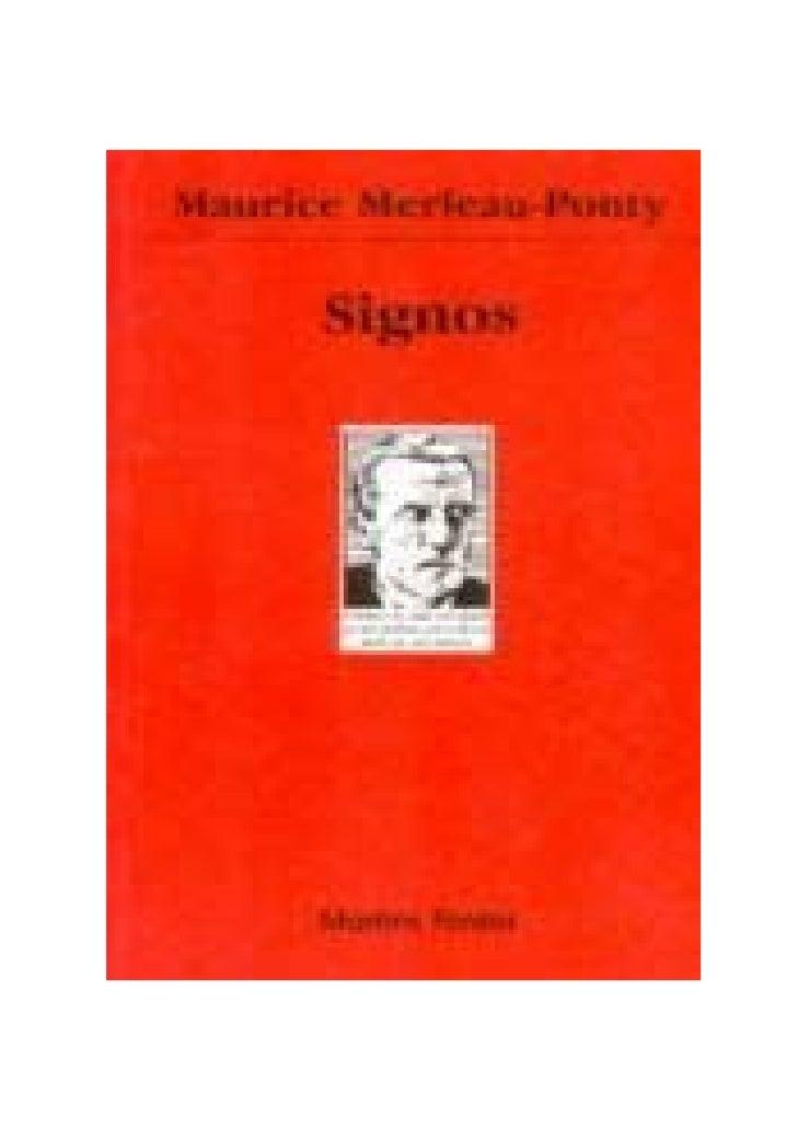 Livro signos merleau ponty