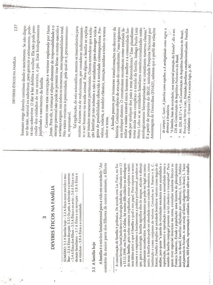 """Livro """"Ética Geral e Profissional"""" - Cap 3  """"Deveres Éticos na Família"""""""