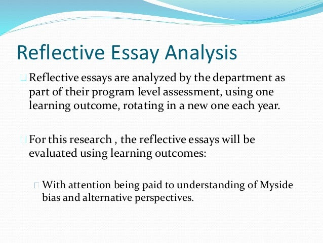 movie reflection and analysis essay