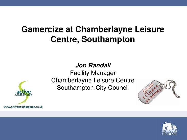Gamercize at Chamberlayne Leisure Centre, Southampton<br />Jon Randall<br />Facility Manager<br />Chamberlayne Leisure Cen...
