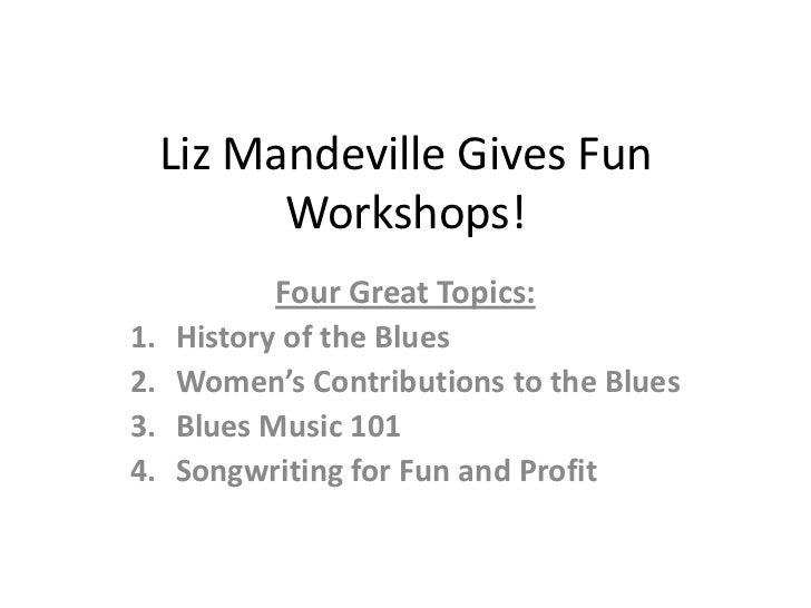 Liz mandeville-gives-fun-workshops101