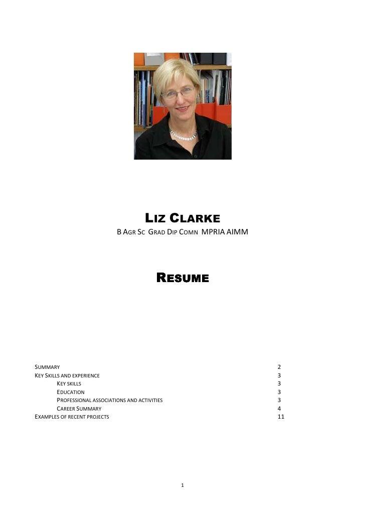 Liz clarke resume dec2010