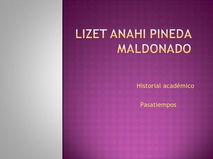 Historial académico  Pasatiempos