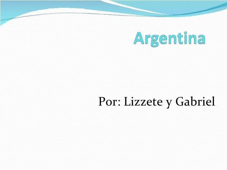 Lizette y Gabriel