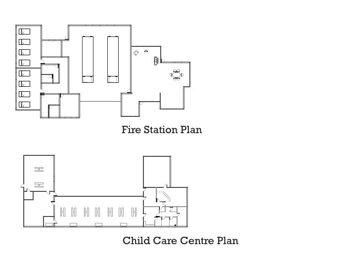 Fire Station Plan     Child Care Centre Plan