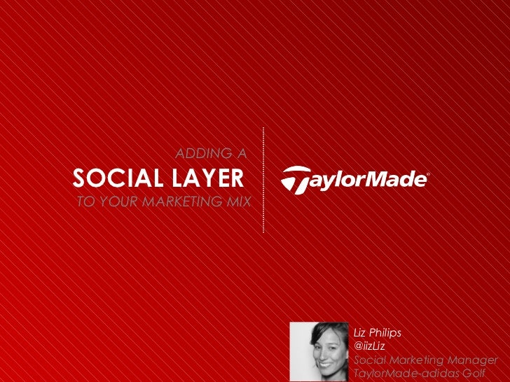ADDING ASOCIAL LAYERTO YOUR MARKETING MIX                        Liz Philips                        @iizLiz               ...