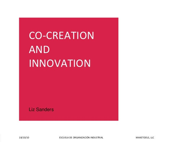 Co-creation and Innovation