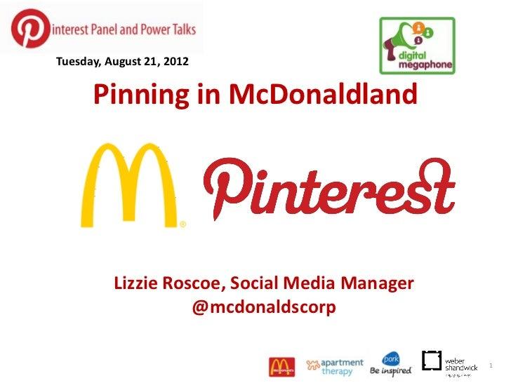 Pinterest Power Talk - Lizzie Roscoe, McDonald's Corporation
