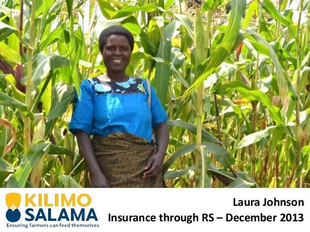 Laura Johnson Insurance through RS – December 2013