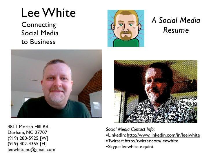 Lee White Slide Resume
