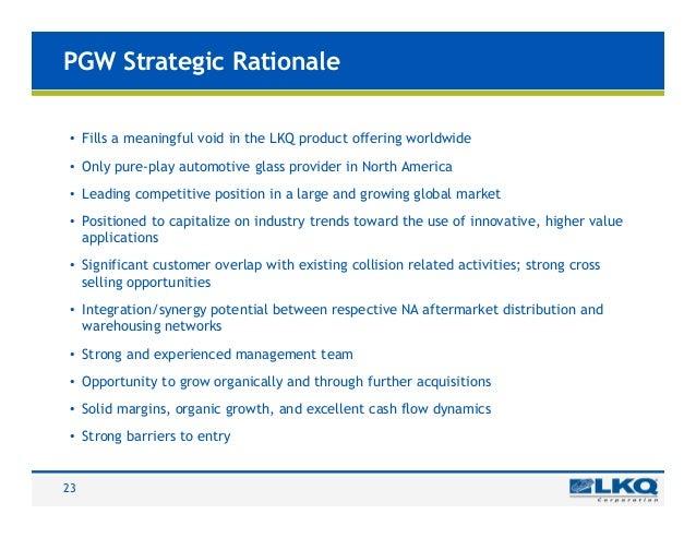 Market entry strategy