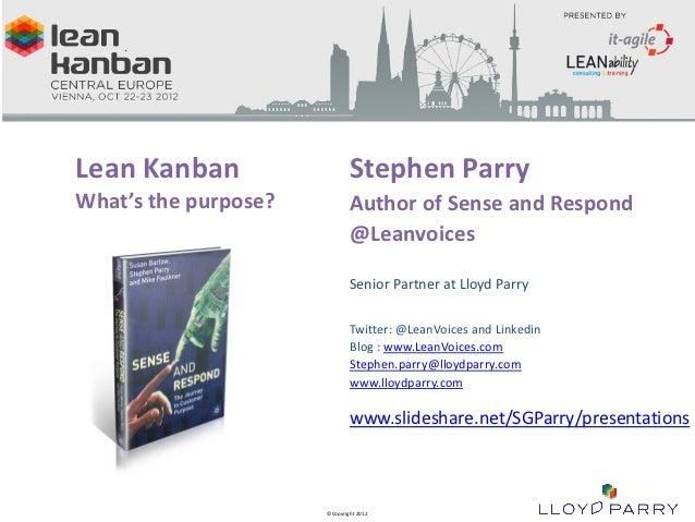 LK Vienna Stephen Parry Sense and Respond