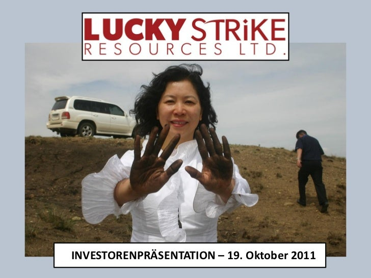 INVESTORENPRÄSENTATION – 19. Oktober 2011