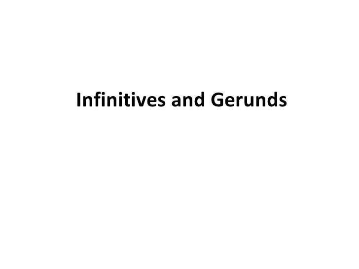 Ll 10.3 infinitives and gerunds