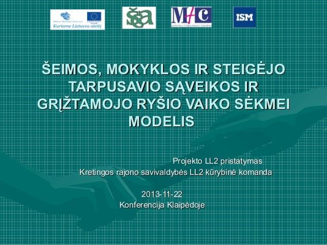 Kretingos rajono savivaldybės pristatymas Klaipėdoje 2013 11 22