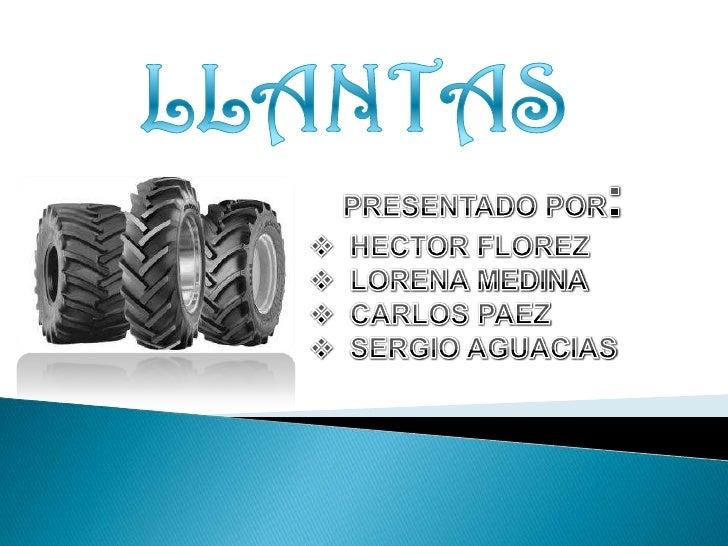 Proceso de investigacion (Llantas)