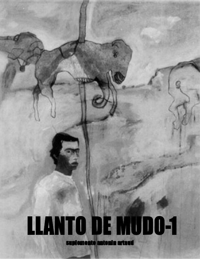 LLANTO DE MUDO-1    suplemento antonin artaud