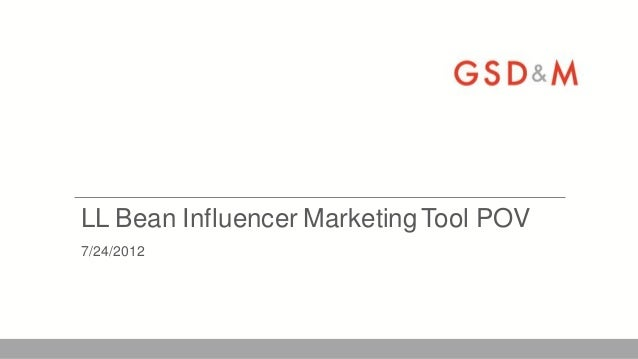 LL Bean Influencer Marketing Tool POV7/24/2012
