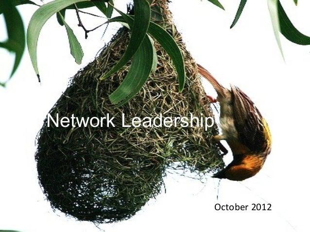 Network Leadership                 October 2012