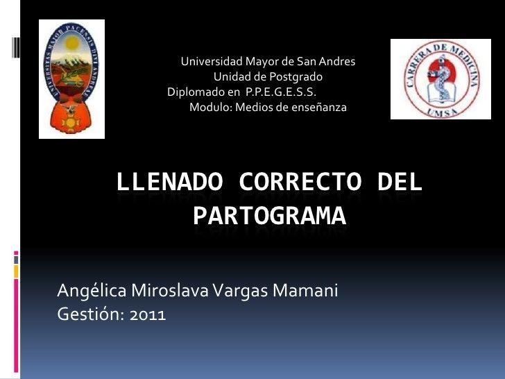 Universidad Mayor de San Andres<br />Unidad de Postgrado<br />Diplomado en  P.P.E.G.E.S.S.   <br />Modulo: Medios de ense...