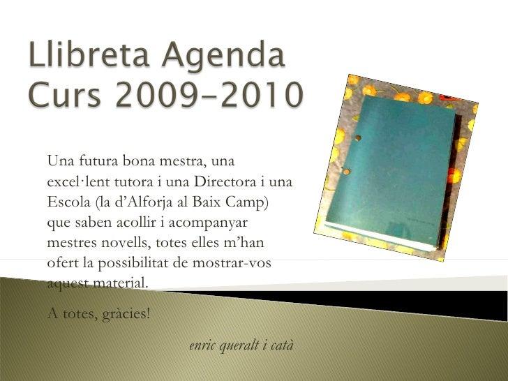 Llibreta agenda rofessorat novell