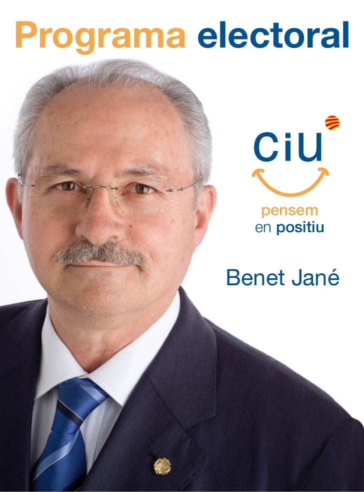 Programa electoral              pensem             en positiu           Benet Jané