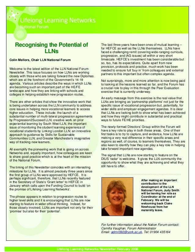 Lln national forum newsletter february 2008