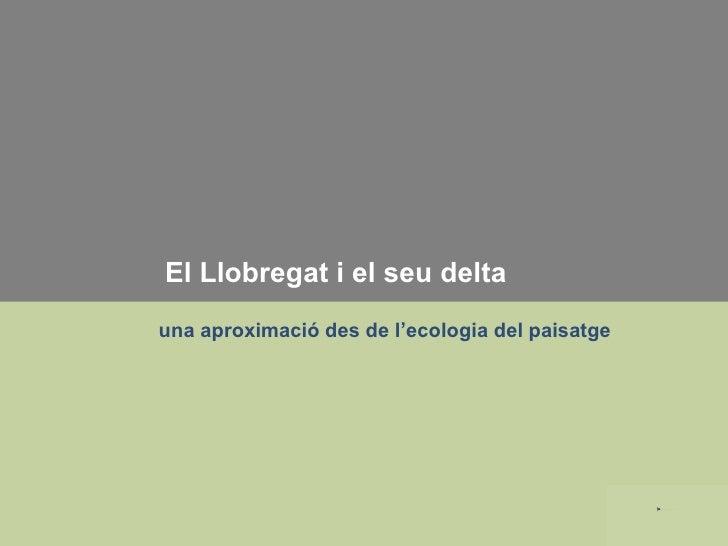 El Llobregat i el seu delta una aproximació des de l'ecologia del paisatge