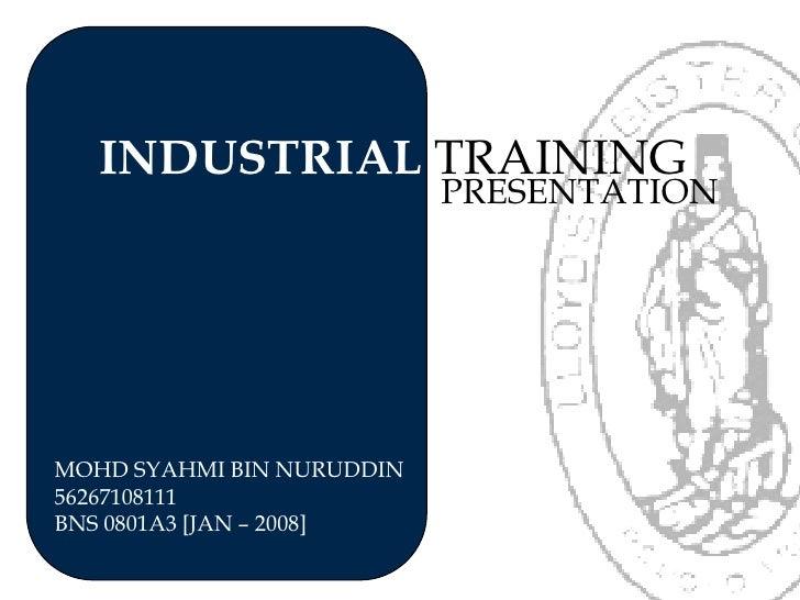 Lloyd's register industrial training