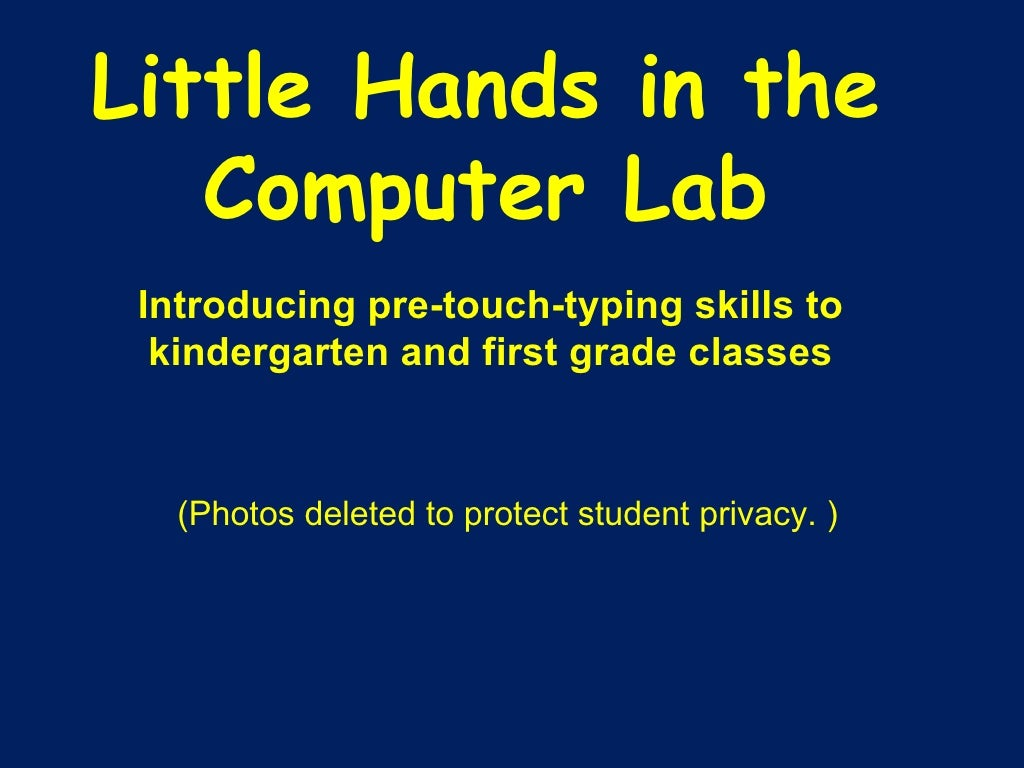 Little Hands in the Computer Lab