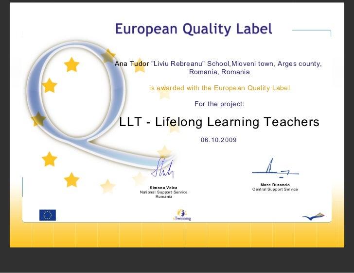 LLT - Lifelong Learning Teachers