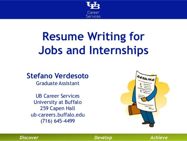 Resume Writing for Jobs and Internships