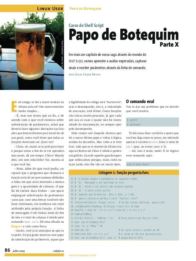 Curso de Shell Script 10/11