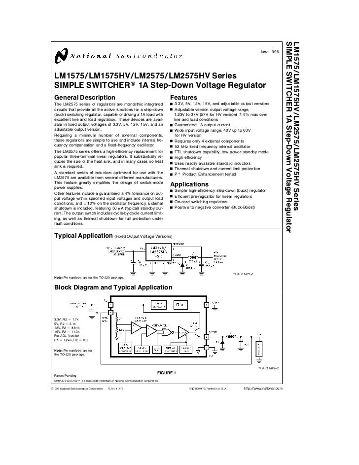 LM2575 Voltage Regulator Datasheet