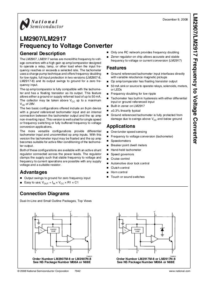 LM2907/LM2917 Frequency to Voltage Converter                                                                              ...