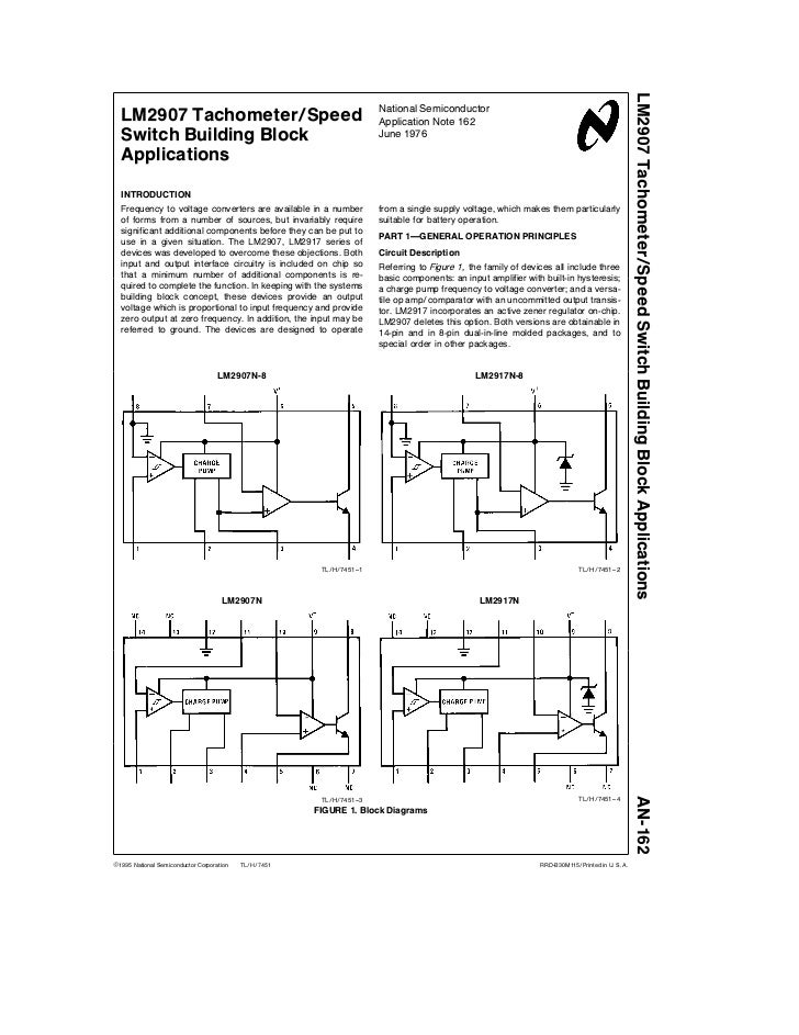 LM2907 Tachometer Speed Switch Building Block Applications                                                                ...