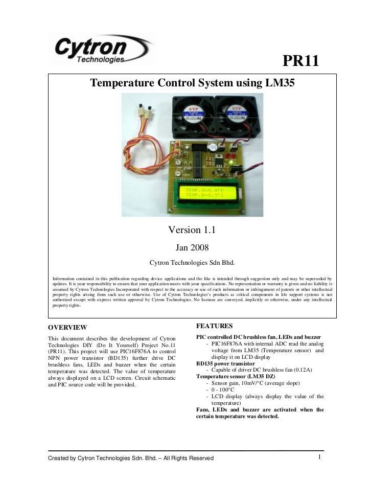 PR11                     Temperature Control System using LM35                                                            ...