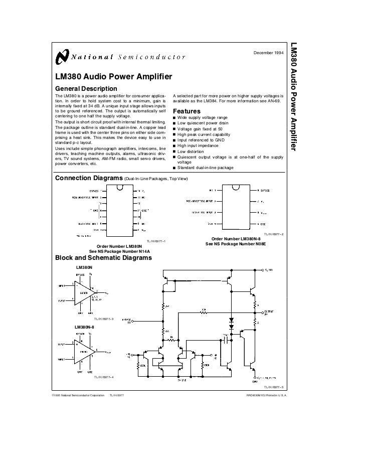 lm380 audio power amplifier