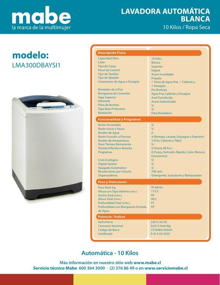 lavadora mabe LMA300DBAYSI1
