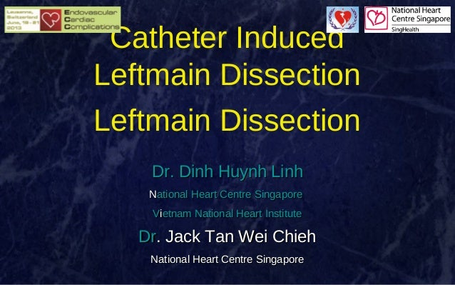 Catheter Induced Leftmain Dissection Leftmain Dissection Dr. Dinh Huynh Linh National Heart Centre Singapore Vietnam Natio...